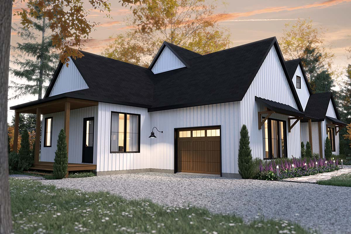 Cabin, Cottage, Country, Farmhouse, Ranch House Plan 76572 with 2 Beds, 3 Baths, 1 Car Garage Picture 2