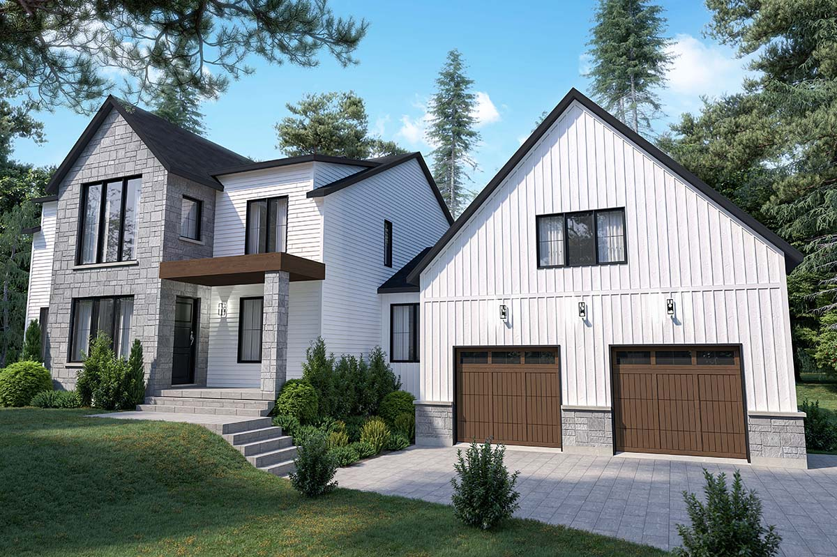 Craftsman, Farmhouse House Plan 76573 with 4 Beds, 3 Baths, 2 Car Garage Picture 1