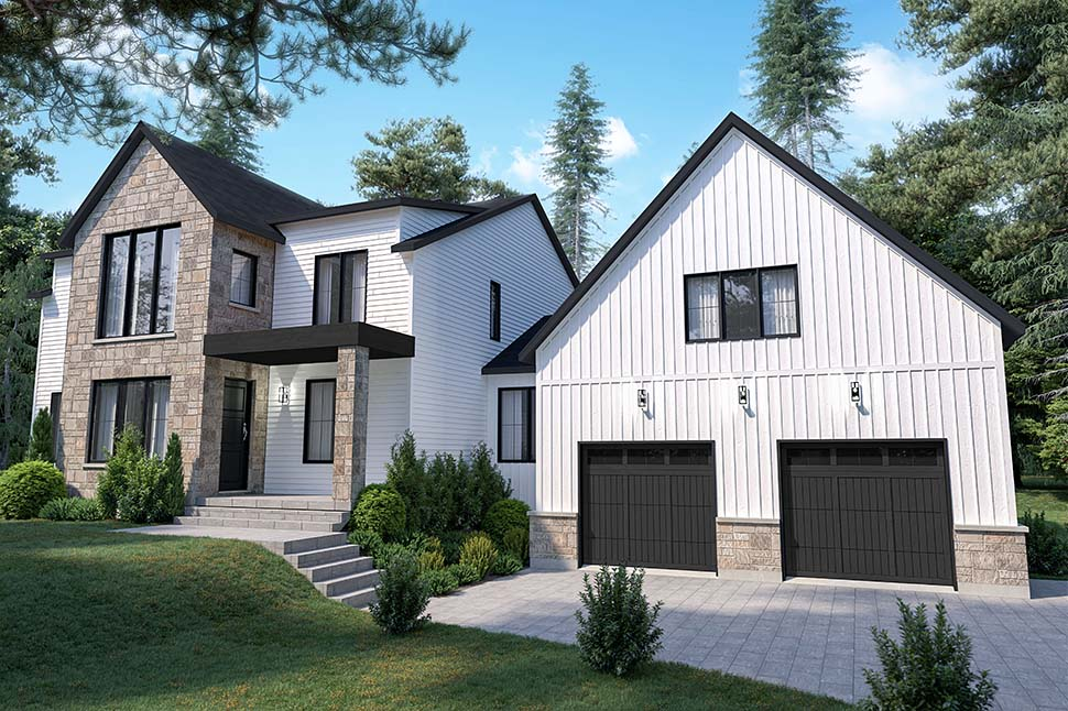Craftsman, Farmhouse House Plan 76573 with 4 Beds, 3 Baths, 2 Car Garage Picture 2