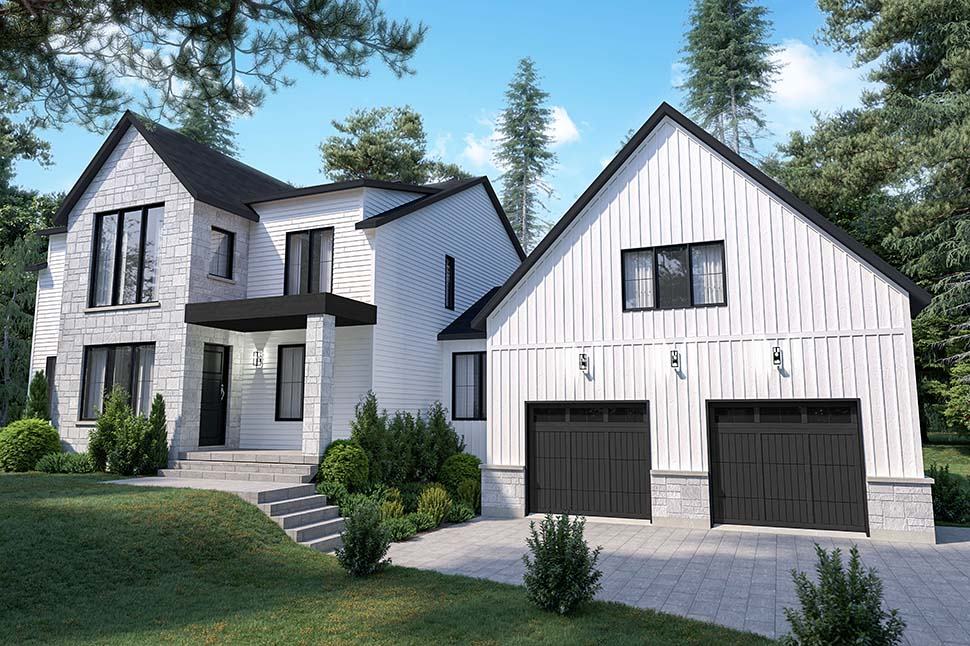 Craftsman, Farmhouse House Plan 76573 with 4 Beds, 3 Baths, 2 Car Garage Picture 3