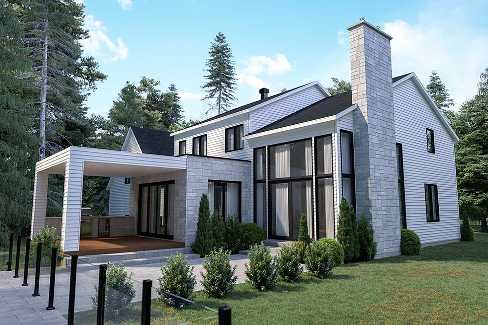 Craftsman, Farmhouse House Plan 76573 with 4 Beds, 3 Baths, 2 Car Garage Picture 4