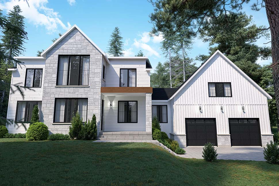 Craftsman, Farmhouse House Plan 76573 with 4 Beds, 3 Baths, 2 Car Garage Picture 7