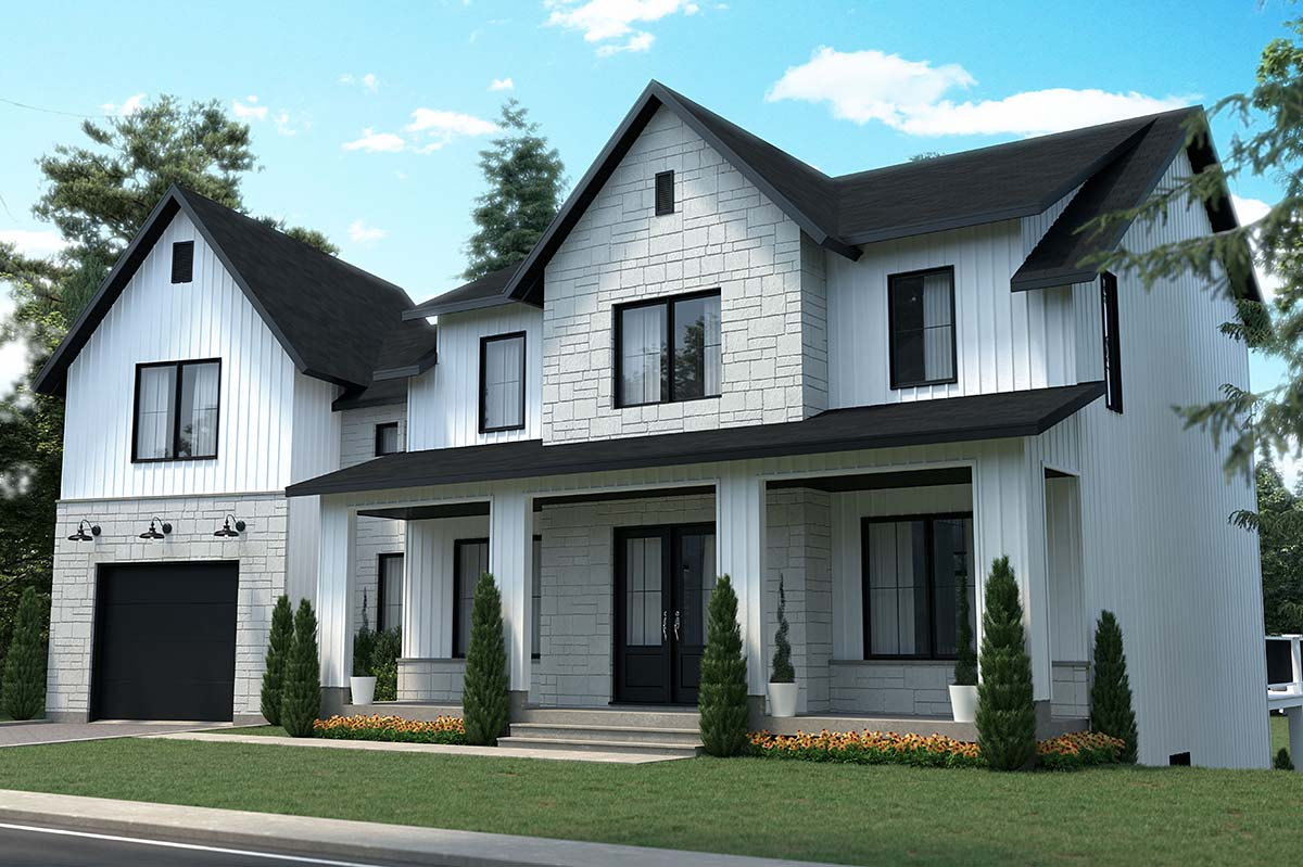 Country, Craftsman, Farmhouse House Plan 76574 with 3 Beds, 3 Baths, 1 Car Garage Picture 1
