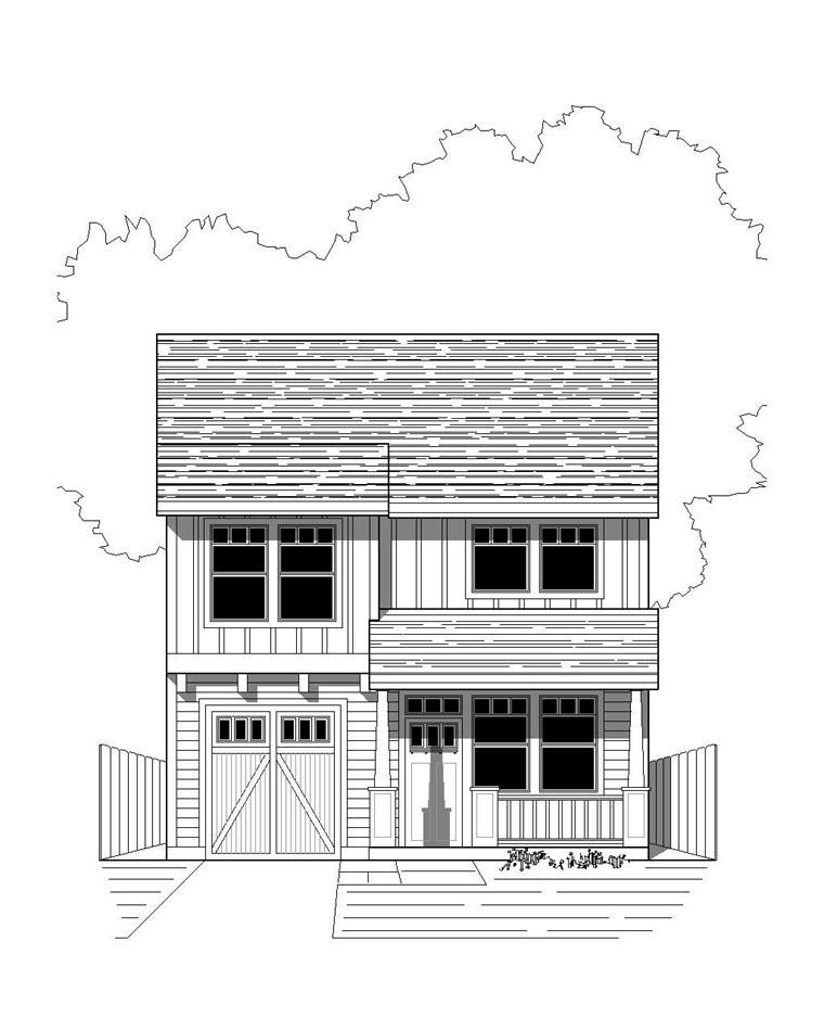 Bungalow, Craftsman House Plan 76811 with 3 Beds, 3 Baths, 1 Car Garage Elevation