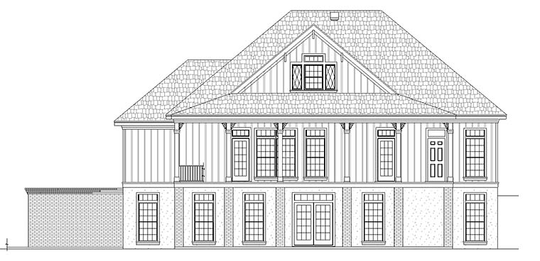 Colonial, Country, Southern House Plan 76925 with 4 Beds, 3 Baths, 2 Car Garage Picture 3