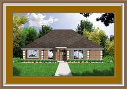 European, One-Story, Traditional House Plan 77022 with 3 Beds, 2 Baths, 2 Car Garage Front Elevation