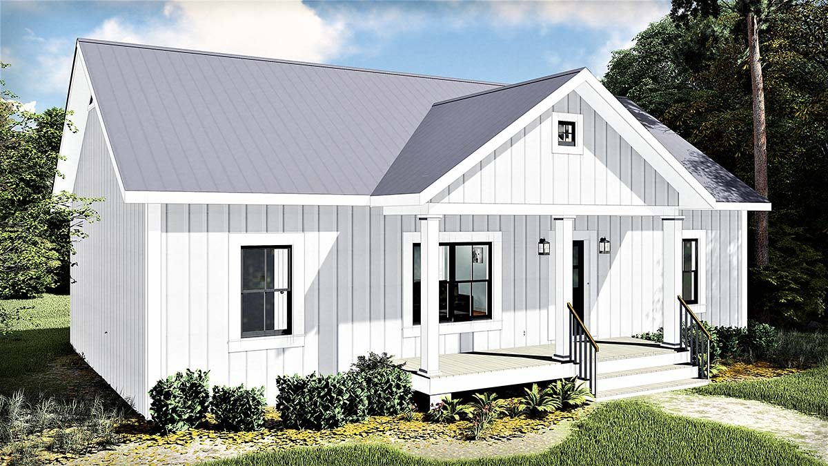 Cottage, Country House Plan 77400 with 3 Beds, 2 Baths Picture 2