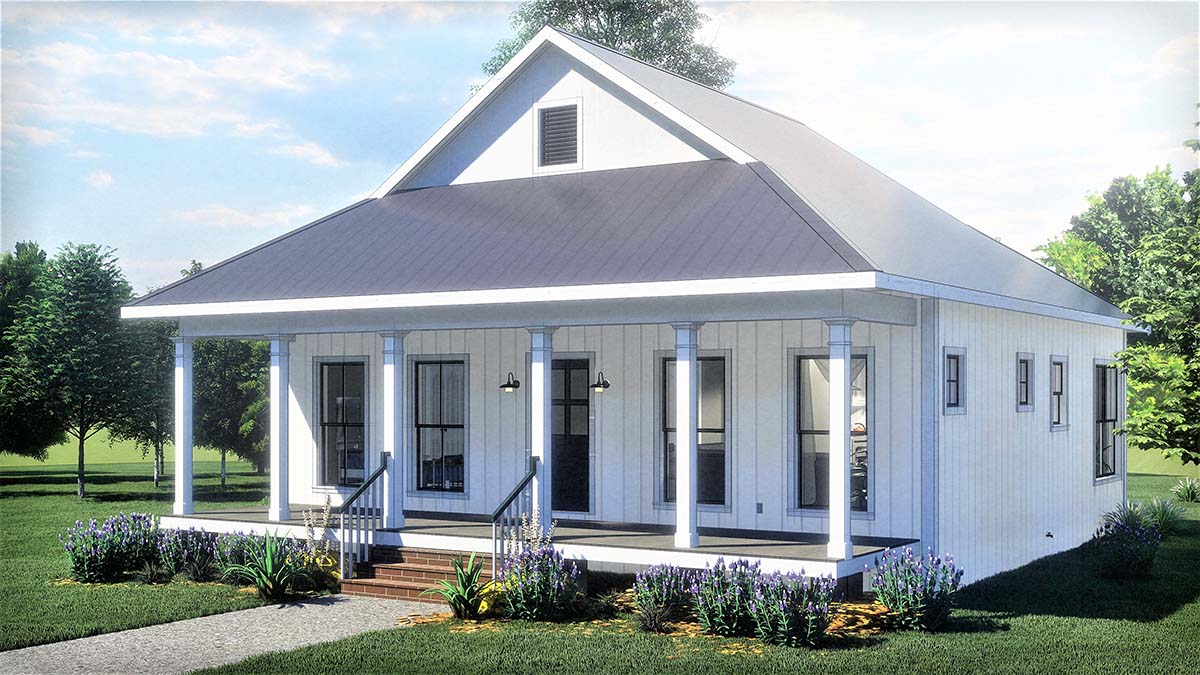 Country, Southern House Plan 77404 with 2 Beds, 1 Baths Picture 1