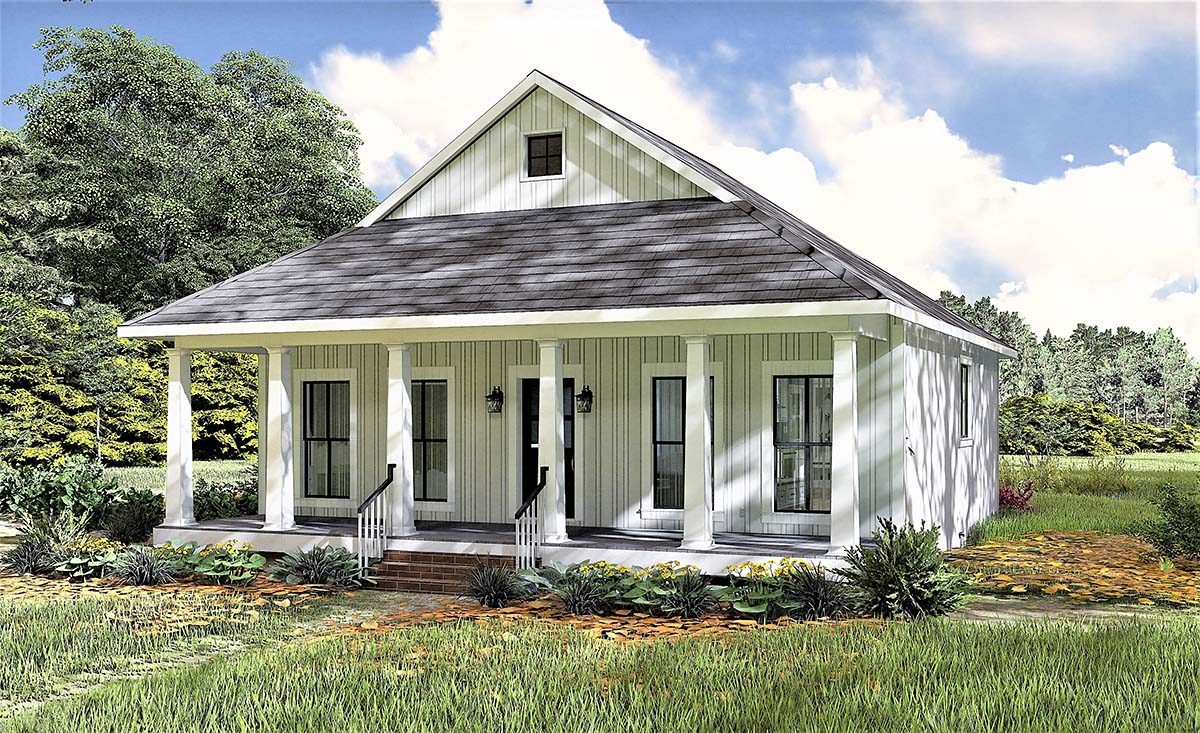 Country, Southern House Plan 77405 with 2 Beds, 1 Baths Picture 1