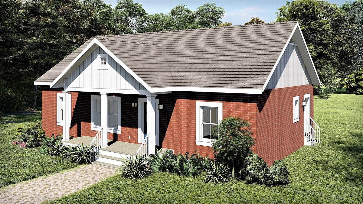 Country, Ranch House Plan 77406 with 3 Beds, 2 Baths Picture 1