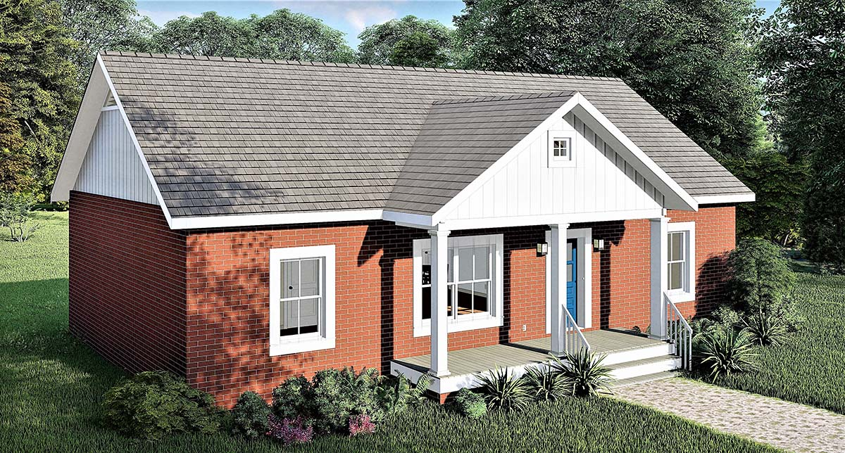 Country, Ranch House Plan 77406 with 3 Beds, 2 Baths Picture 2
