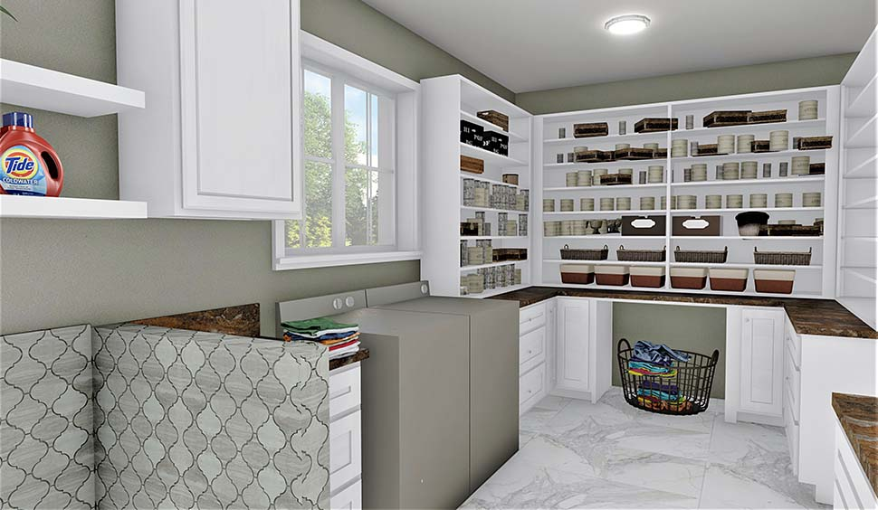 Country, Farmhouse, Plantation House Plan 77409 with 3 Beds, 2 Baths, 2 Car Garage Picture 12