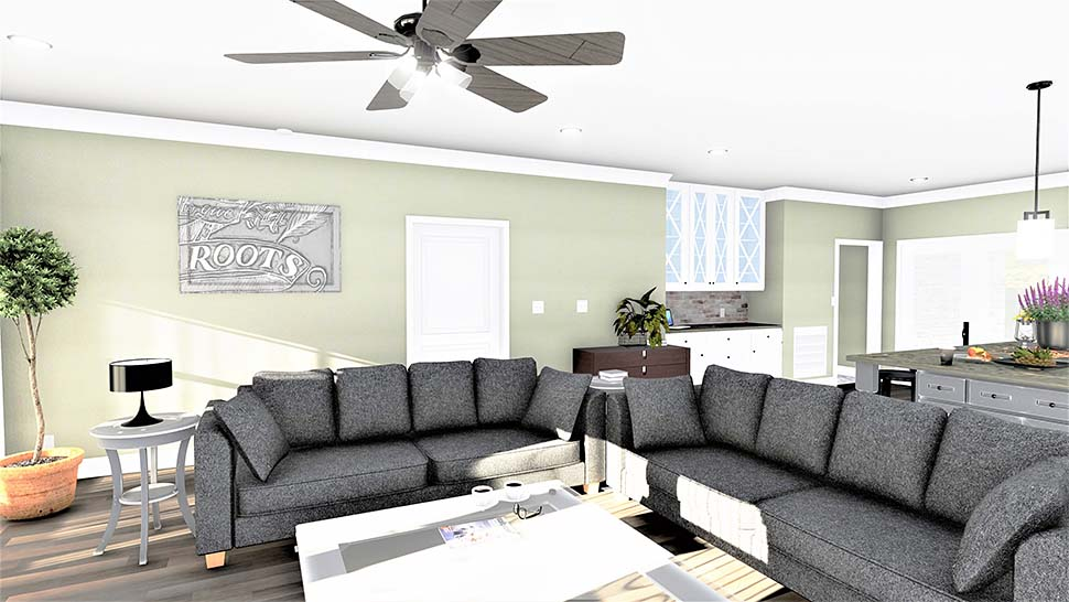 Country, Farmhouse, Plantation House Plan 77409 with 3 Beds, 2 Baths, 2 Car Garage Picture 4