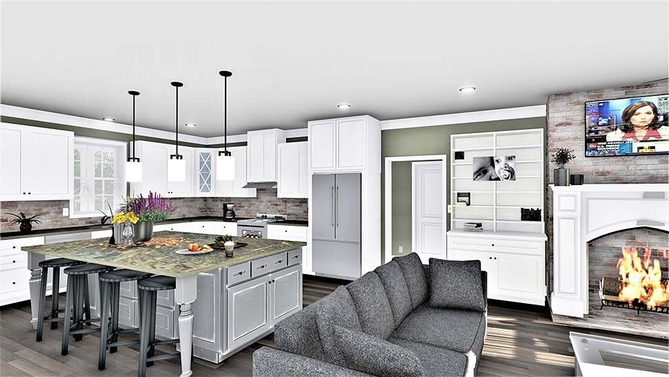 Country, Farmhouse, Plantation House Plan 77409 with 3 Beds, 2 Baths, 2 Car Garage Picture 8