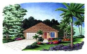 Plan Number 78107 - 1364 Square Feet