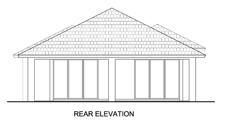 Mediterranean House Plan 78110 with 3 Beds, 2 Baths, 2 Car Garage Rear Elevation