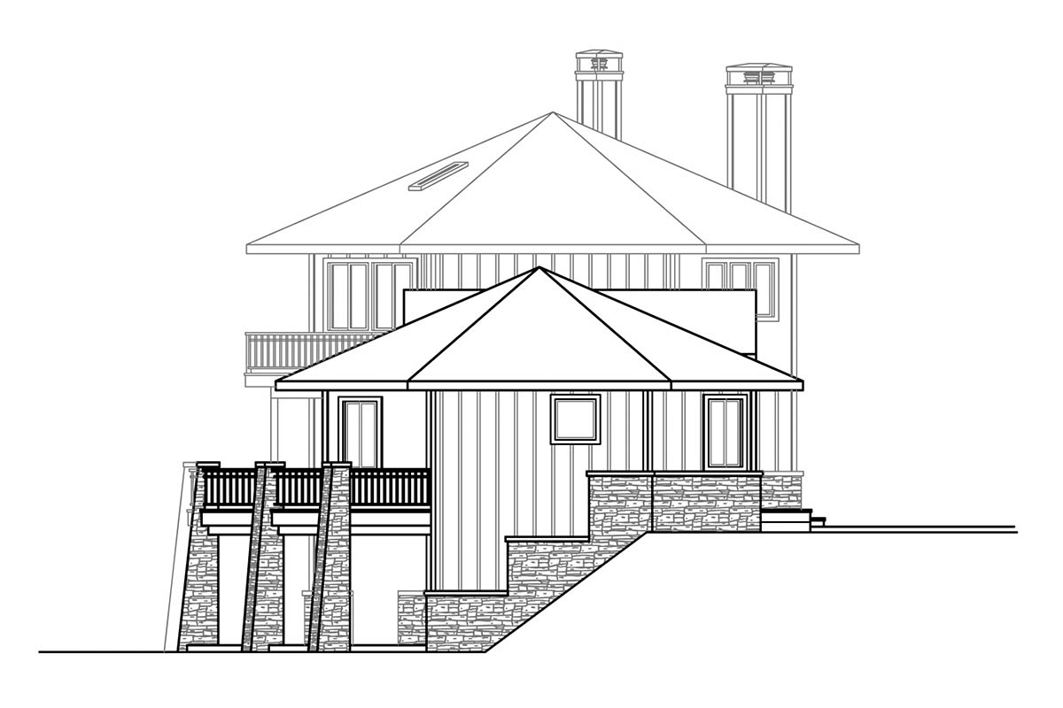 Cabin, Contemporary, Craftsman House Plan 78403 with 3 Beds, 4 Baths, 2 Car Garage Picture 2