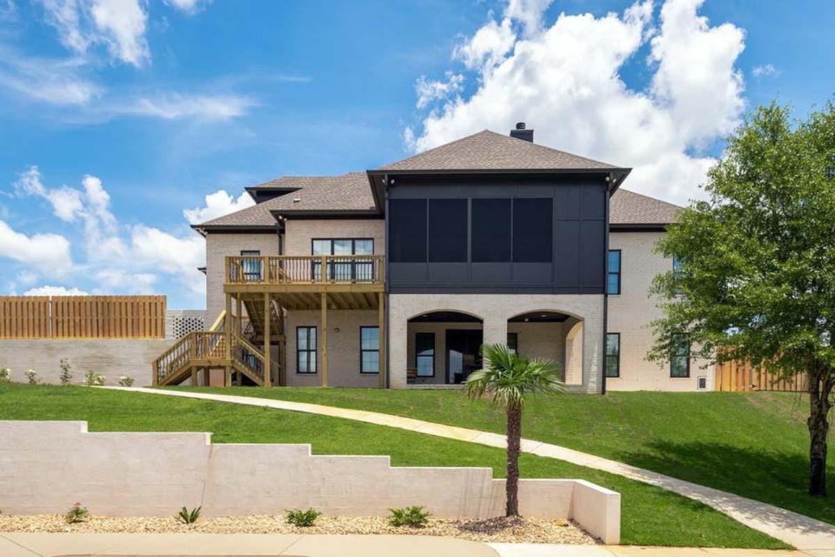 European, Florida, Mediterranean House Plan 78506 with 5 Beds, 5 Baths, 4 Car Garage Rear Elevation