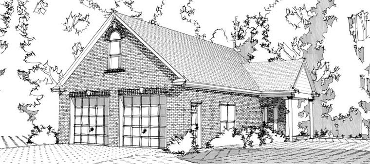 2 Car Garage Plan 78658 Front Elevation