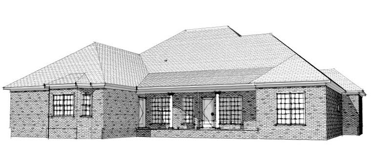 Traditional House Plan 78712 with 2 Beds, 3 Baths, 2 Car Garage Picture 1