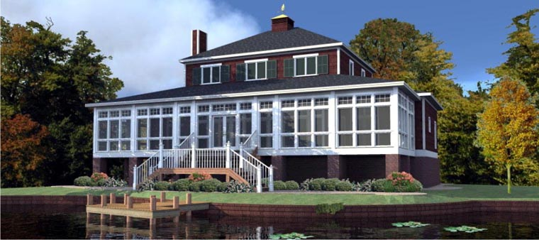 Country House Plan 78764 with 5 Beds, 4 Baths Elevation