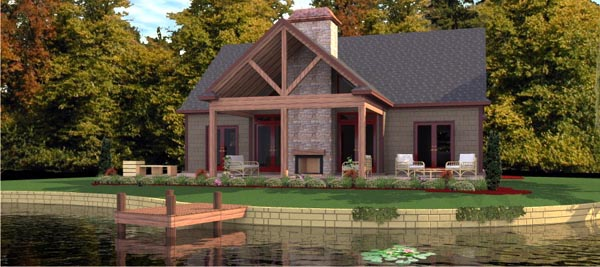 Bungalow House Plan 78776 with 2 Beds, 2 Baths Front Elevation