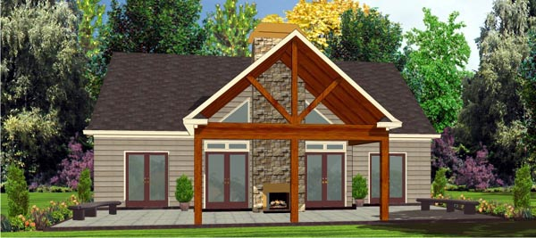 Bungalow House Plan 78776 with 2 Beds, 2 Baths Picture 3