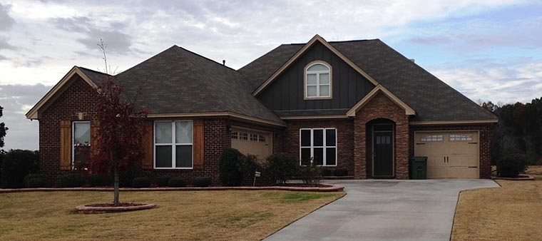 European, Traditional House Plan 78871 with 4 Beds, 3 Baths, 3 Car Garage Elevation