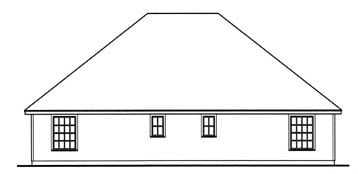 Country Multi-Family Plan 79258 with 4 Beds, 4 Baths, 2 Car Garage Rear Elevation