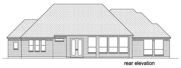 European, Traditional House Plan 79335 with 3 Beds, 4 Baths, 2 Car Garage Rear Elevation