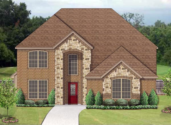 Traditional House Plan 79343 with 5 Beds, 3 Baths, 2 Car Garage Elevation