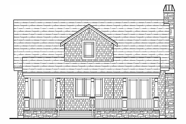 Cottage, Country, Craftsman, Farmhouse House Plan 79503 with 3 Beds, 3 Baths Rear Elevation