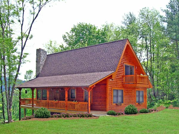 Cabin, Country, Log House Plan 79505 with 3 Beds, 2 Baths Elevation