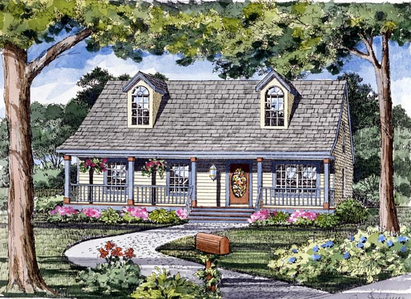 Cape Cod, Cottage, Country, Traditional House Plan 79510 with 3 Beds, 2 Baths Front Elevation