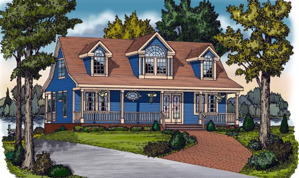 Cape Cod, Cottage, Country, Farmhouse, Traditional House Plan 79517 with 2 Beds, 2 Baths Front Elevation