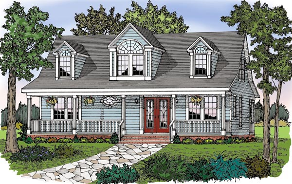 Cape Cod, Cottage, Country, Farmhouse, Traditional House Plan 79517 with 2 Beds, 2 Baths Picture 1