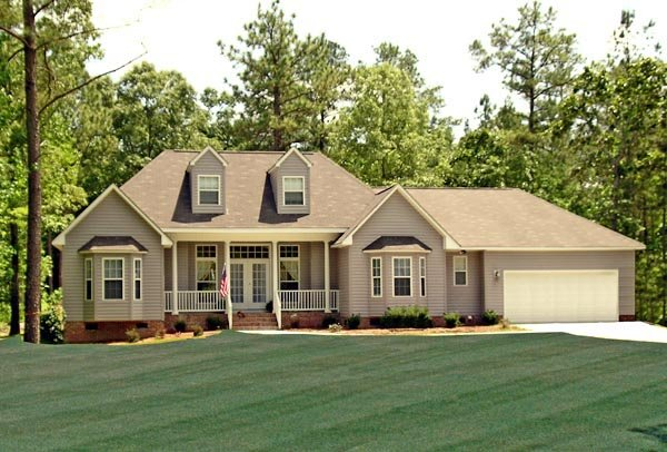 Country, Farmhouse, Southern, Traditional House Plan 79518 with 3 Beds, 2 Baths, 2 Car Garage Elevation