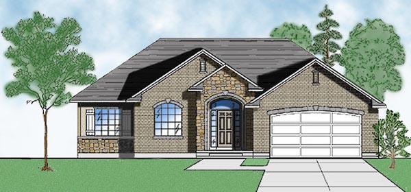 European House Plan 79714 with 3 Beds, 3 Baths, 2 Car Garage Front Elevation