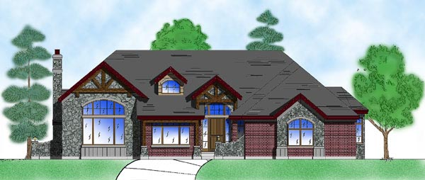 European House Plan 79769 with 4 Beds, 4 Baths, 2 Car Garage Elevation
