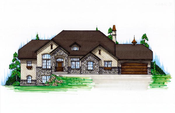 European House Plan 79781 with 5 Beds, 5 Baths, 3 Car Garage Elevation