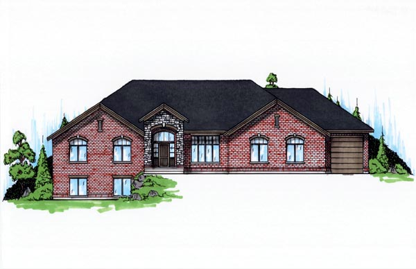 European House Plan 79829 with 6 Beds, 5 Baths, 3 Car Garage Elevation