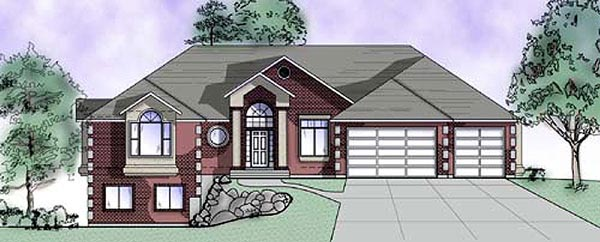 European House Plan 79830 with 5 Beds, 4 Baths, 3 Car Garage Elevation