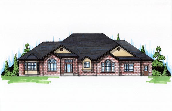 European House Plan 79862 with 5 Beds, 4 Baths, 3 Car Garage Elevation