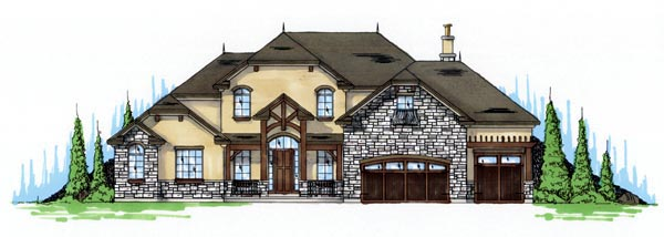 Traditional House Plan 79933 with 4 Beds, 4 Baths, 3 Car Garage Front Elevation
