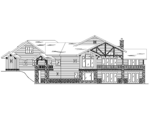 Traditional House Plan 79934 with 4 Beds, 6 Baths, 3 Car Garage Rear Elevation