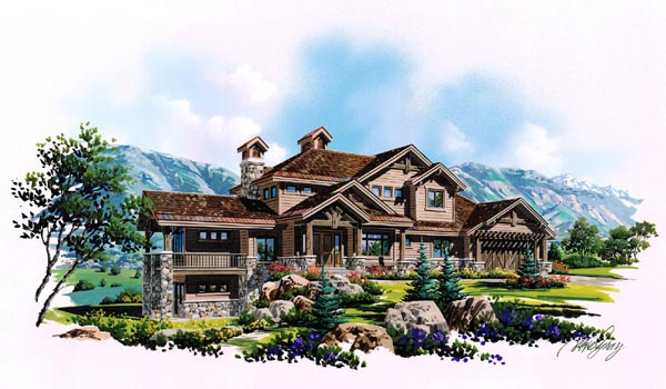 Traditional House Plan 79936 with 6 Beds, 6 Baths, 3 Car Garage Front Elevation