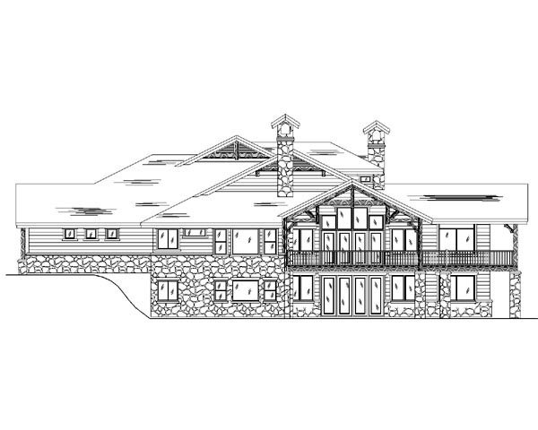Traditional House Plan 79936 with 6 Beds, 6 Baths, 3 Car Garage Rear Elevation