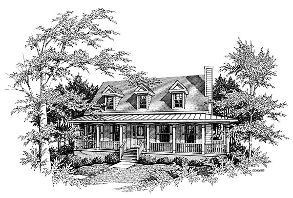 Country House Plan 80181 with 4 Beds, 3 Baths, 2 Car Garage Elevation