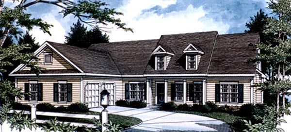 Country House Plan 80184 with 4 Beds, 3 Baths, 2 Car Garage Elevation