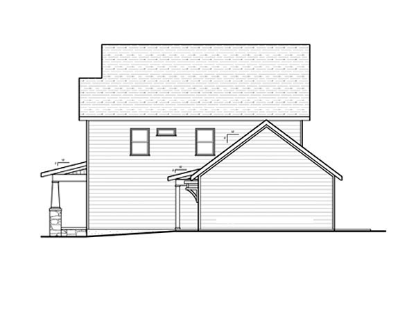 Craftsman House Plan 80196 with 4 Beds, 3 Baths, 2 Car Garage Picture 2